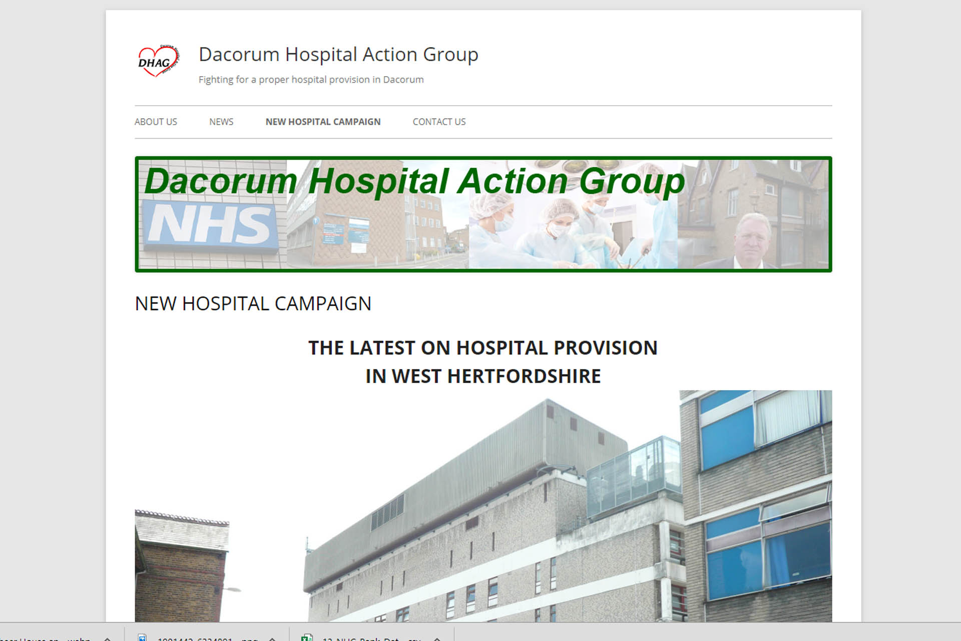 New website for Dacorum Hospital Action Group